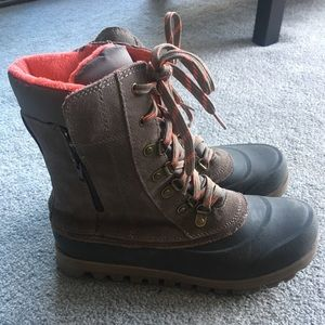 Gently worn snow boots